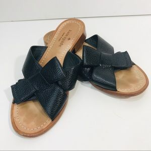Kate spade Becky bow slide sandals black